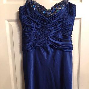 Blue formal gown PLEASE READ Description